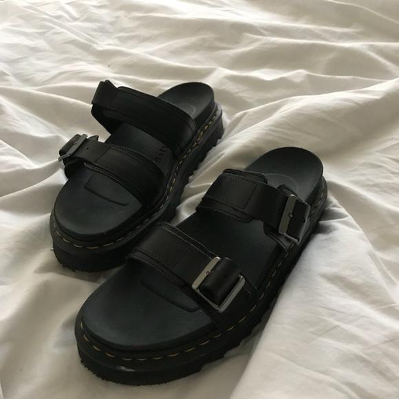 f63fef7652eb0 Dr. Martens Shoes | Dr Martens Myles Slide Sandals In Black | Poshmark